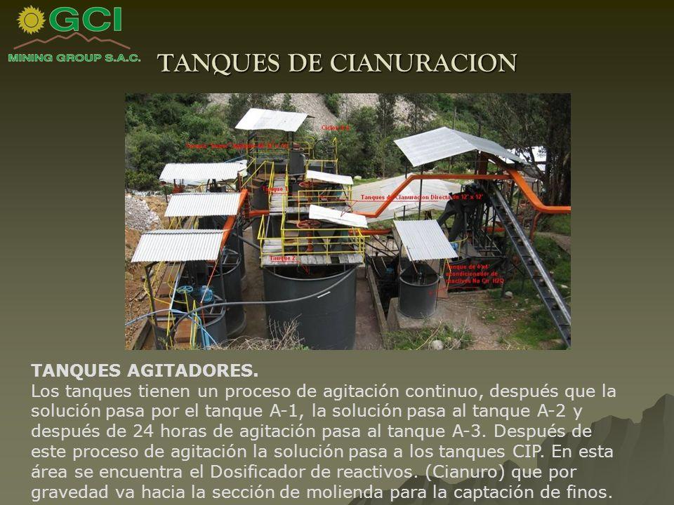 TANQUES DE CIANURACION TANQUES AGITADORES.