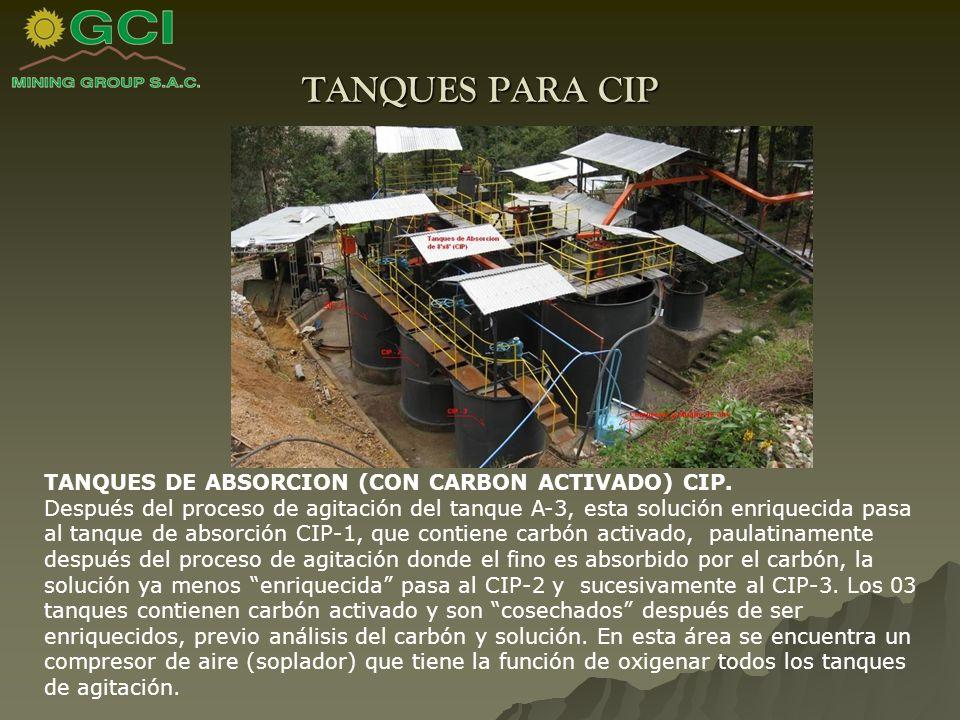 TANQUES PARA CIP TANQUES DE ABSORCION (CON CARBON ACTIVADO) CIP.