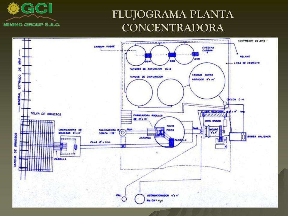 FLUJOGRAMA PLANTA CONCENTRADORA
