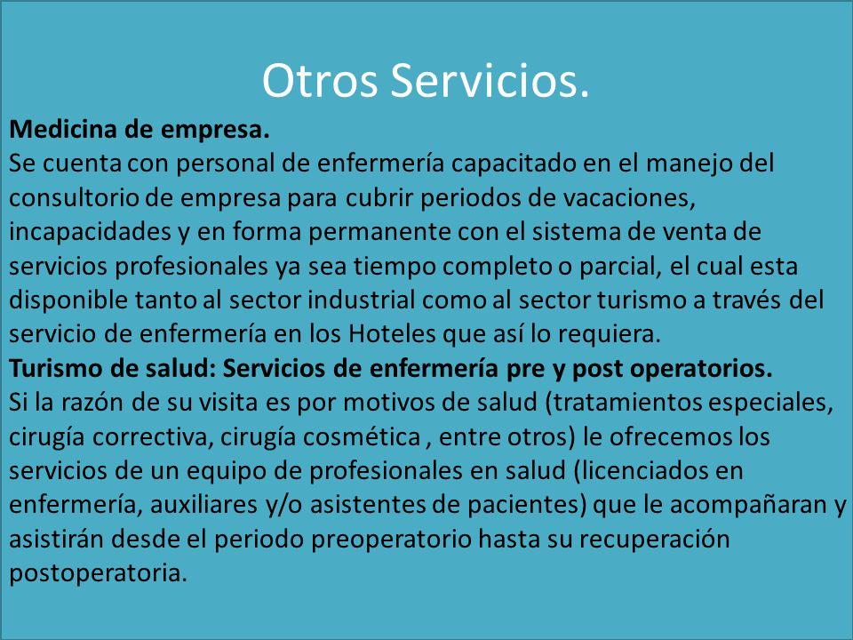 Otros Servicios.Medicina de empresa.