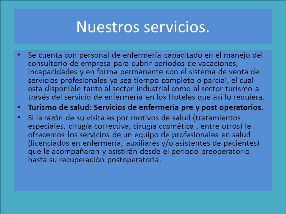 Otros Servicios : 1.CURSOS Y TALLERES LIBRES DE ENFERMERÍA.