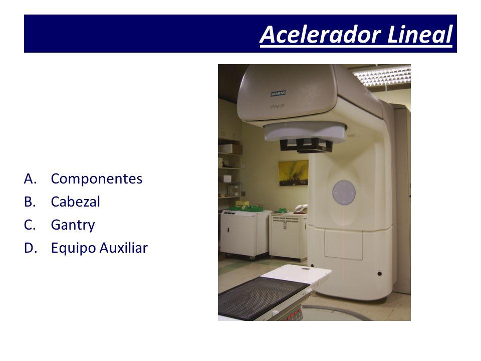 Acelerador Lineal A.Componentes B.Cabezal C.Gantry D.Equipo Auxiliar
