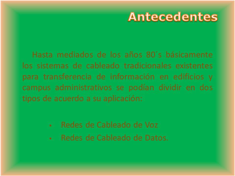Homogeneidad de los componentes Paneles Cable Cordones de parcheo Tomas TODOS CATEGORIA 5 e ó 6