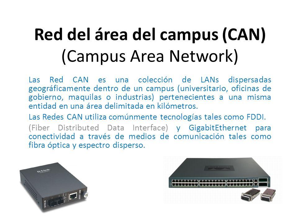 Las Red CAN es una colección de LANs dispersadas geográficamente dentro de un campus (universitario, oficinas de gobierno, maquilas o industrias) pert
