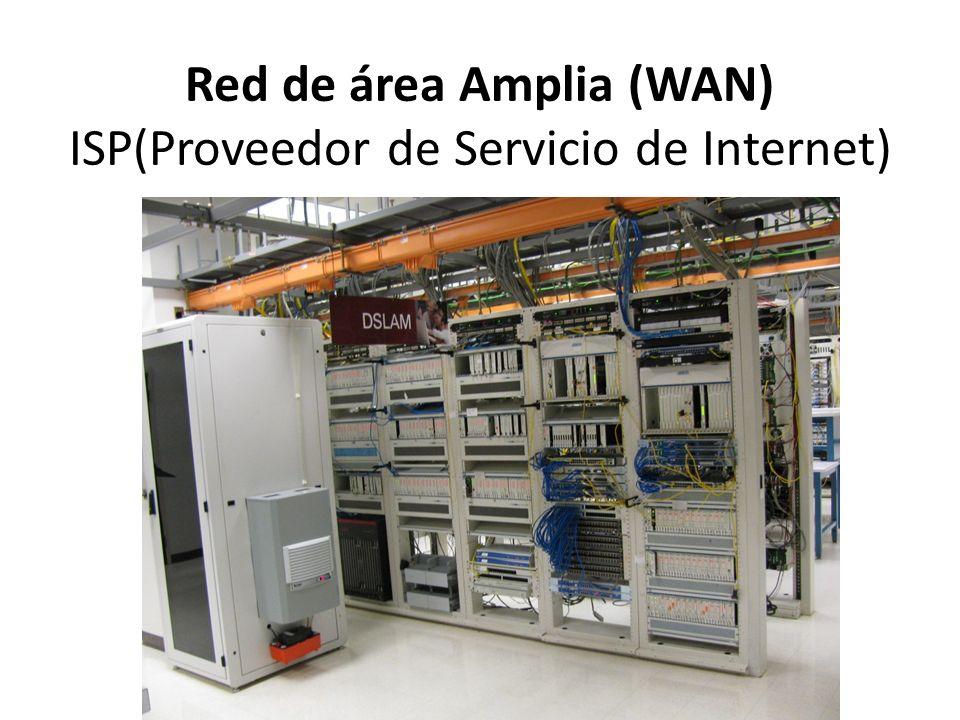 Red de área Amplia (WAN) ISP(Proveedor de Servicio de Internet)