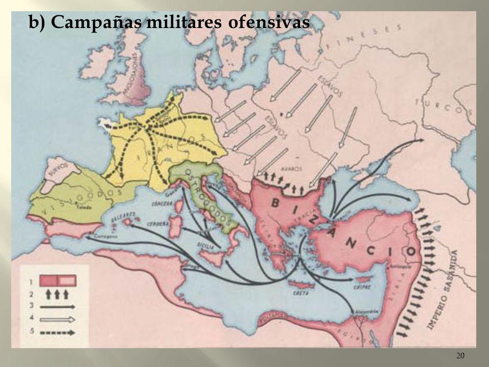 20 Al ser una de las preocupaciones más importantes de Justiniano la restauración del Imperio Romano, se lanzo contra los vándalos de África y los con