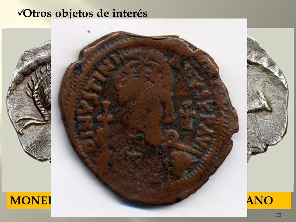 30 MONEDAS DE COBRE Y BRONCE BIZANTINAS Otros objetos de interés MONEDAS CON LA IMAGEN DE JUSTINIANO