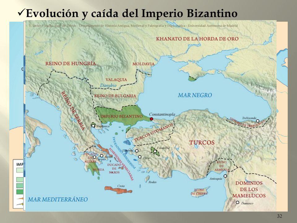 32 Evolución y caída del Imperio Bizantino