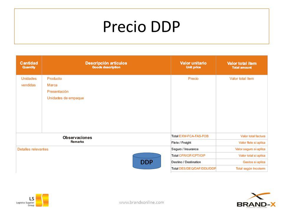 Precio DDP www.brandxonline.com DDP