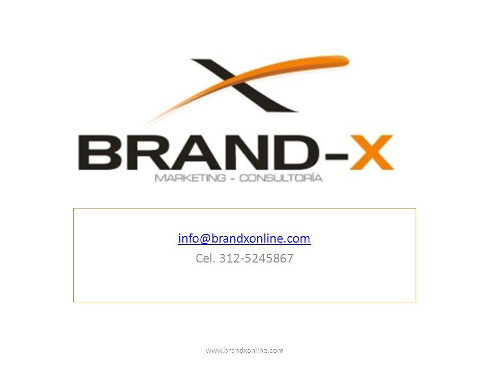 info@brandxonline.com Cel. 312-5245867 www.brandxonline.com