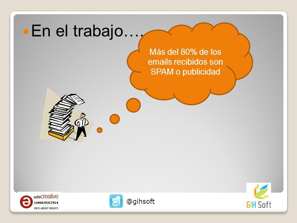 En el trabajo…. Más del 80% de los emails recibidos son SPAM o publicidad @gihsoft