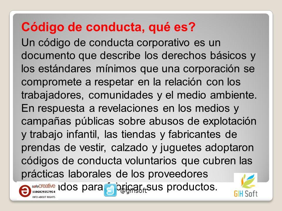 Código de conducta, qué es? Un código de conducta corporativo es un documento que describe los derechos básicos y los estándares mínimos que una corpo