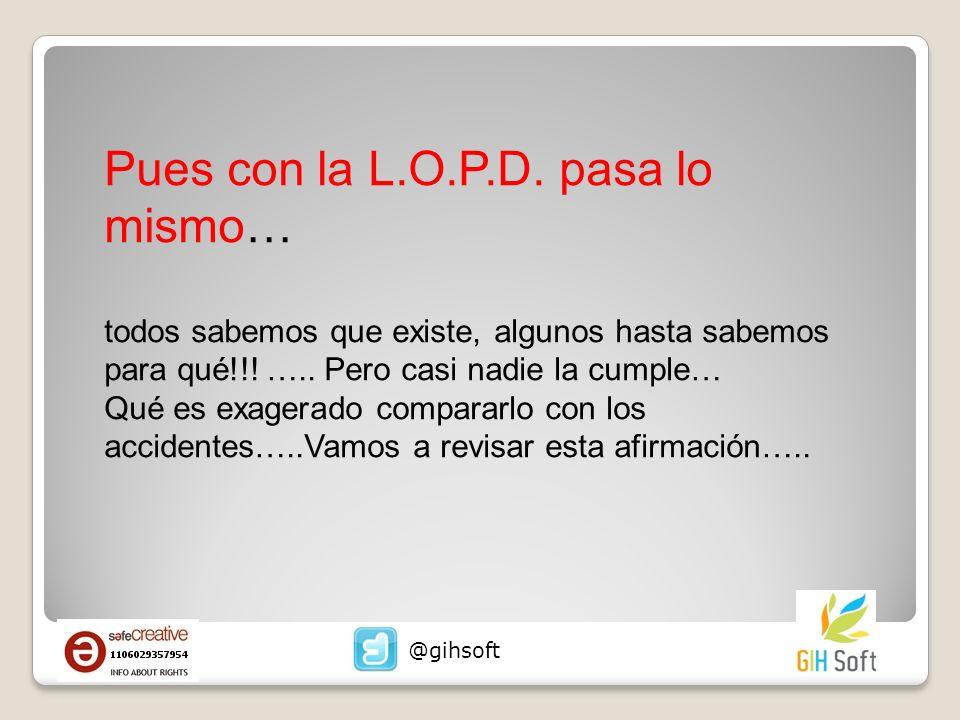 Pues con la L.O.P.D.pasa lo mismo… todos sabemos que existe, algunos hasta sabemos para qué!!.