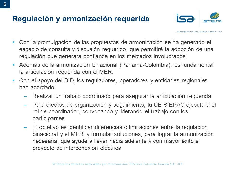 7 Expectativas de compras en el marco de la regulación definida Panamá ha fijado una posición con relación a la expectativa de compras a través de la interconexión.