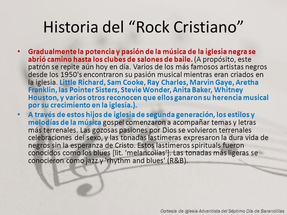 Historia del Rock Cristiano Una de las creencias más populares que encuentro es que la música rock no es Cristiana porque vino de raíces profanas. Los