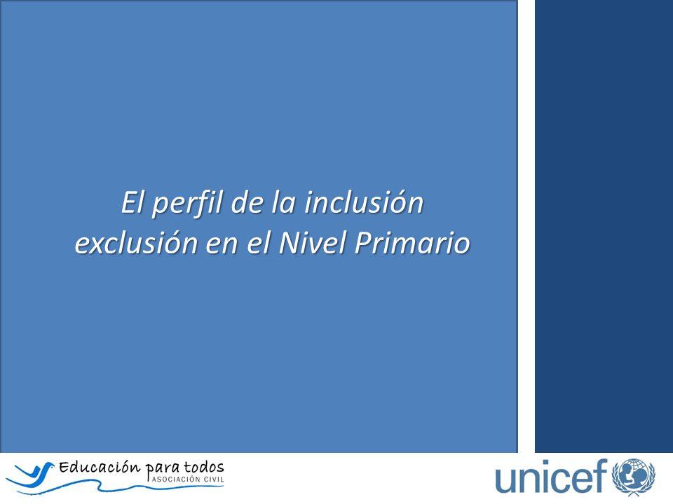 El perfil de la inclusión exclusión en el Nivel Primario