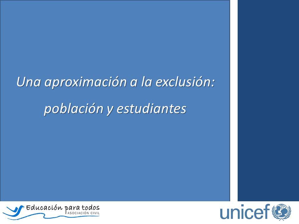 Una aproximación a la exclusión: población y estudiantes