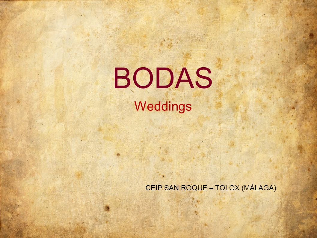 BODAS Weddings CEIP SAN ROQUE – TOLOX (MÁLAGA)