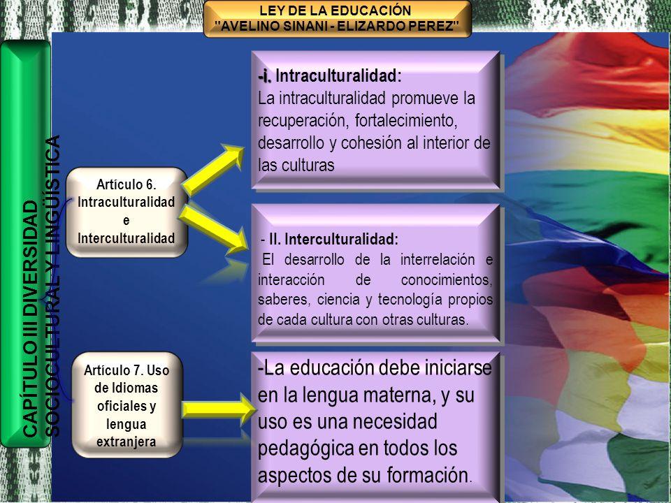 TÍTULO I MARCO FILOSÓFICO Y POLÍTICO DE LA EDUCACIÓN BOLIVIANA CAPÍTULO ÚNICO BASES, FINES Y OBJETIVOS DE LA EDUCACIÓN BOLIVIANA CONSTRUCCIÓN COLECTIVA HISTÓRICA LEY DE LA EDUCACIÓN AVELINO SINANI - ELIZARDO PEREZ Artículo 8.