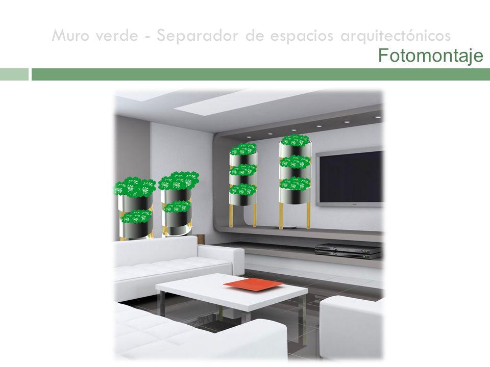 Muro verde - Separador de espacios arquitectónicos Fotomontaje