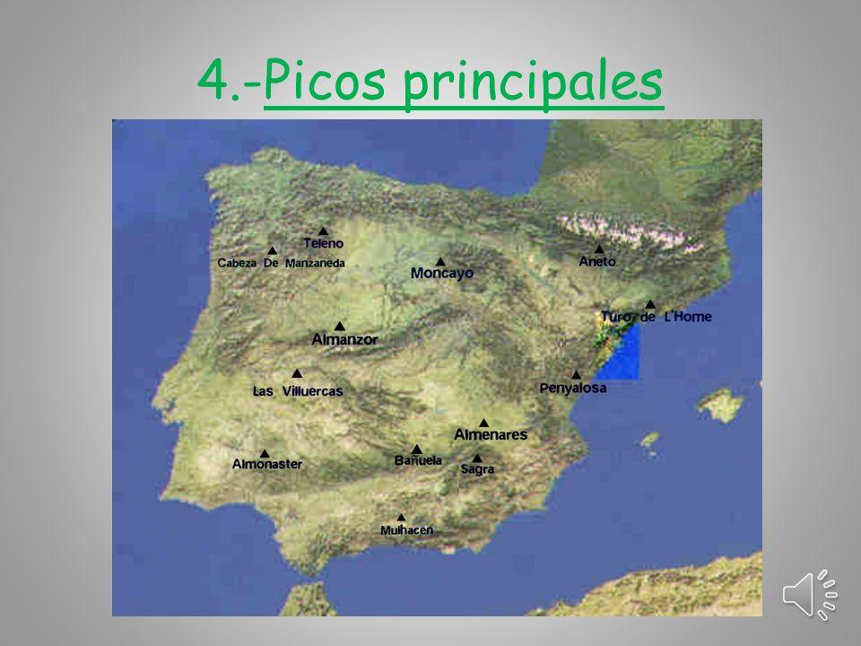 Sistemas Béticos Se encuentran al sudeste de la Península.