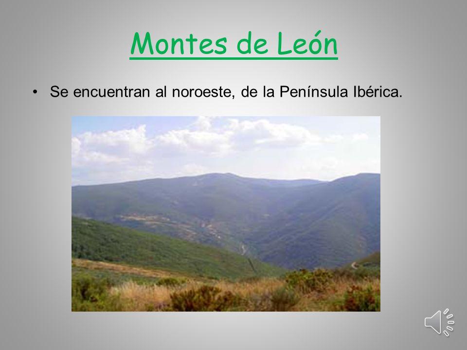 Montes de León Se encuentran al noroeste, de la Península Ibérica.