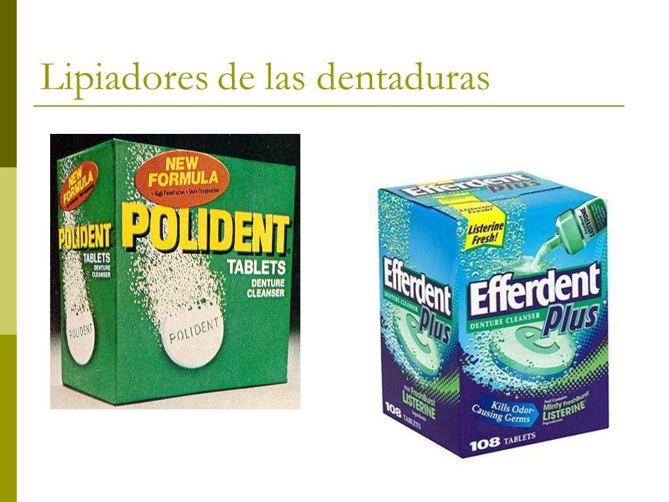 Lipiadores de las dentaduras