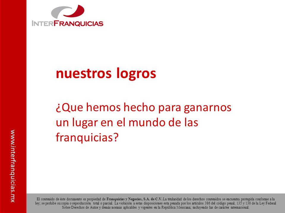 El contenido de éste documento es propiedad de Franquicias y Negocios, S.A.