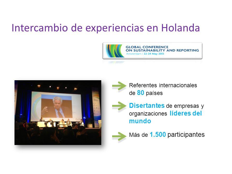 Intercambio de experiencias en Holanda Referentes internacionales de 80 países Disertantes de empresas y organizaciones líderes del mundo Más de 1.500 participantes
