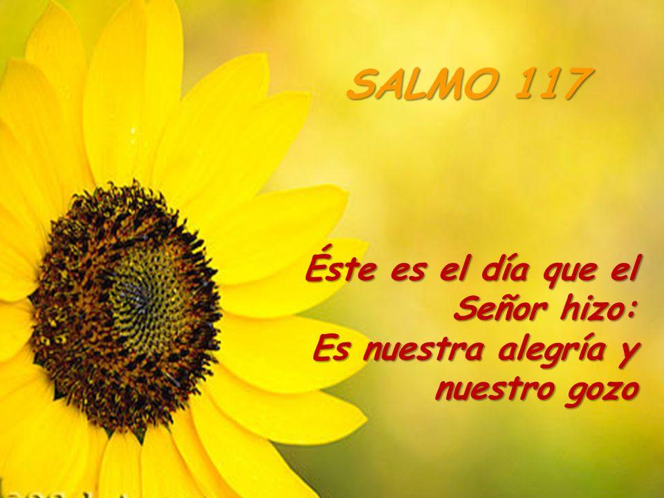 Éste es el día que el Señor hizo: Es nuestra alegría y nuestro gozo SALMO 117