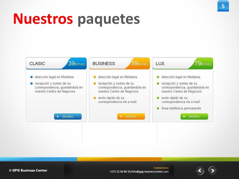 Contáctenos +373 22 58 88 35/info@gpg-businesscenter.com Nuestros paquetes © GPG Business Center