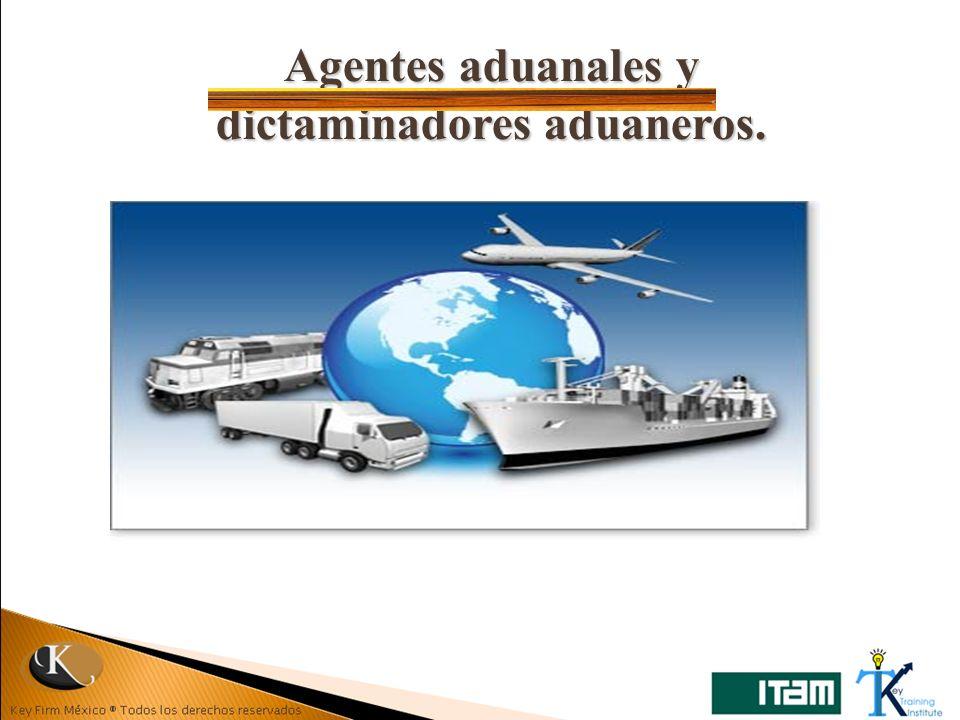 Agentes aduanales y dictaminadores aduaneros.