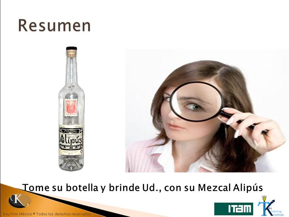 Tome su botella y brinde Ud., con su Mezcal Alipús