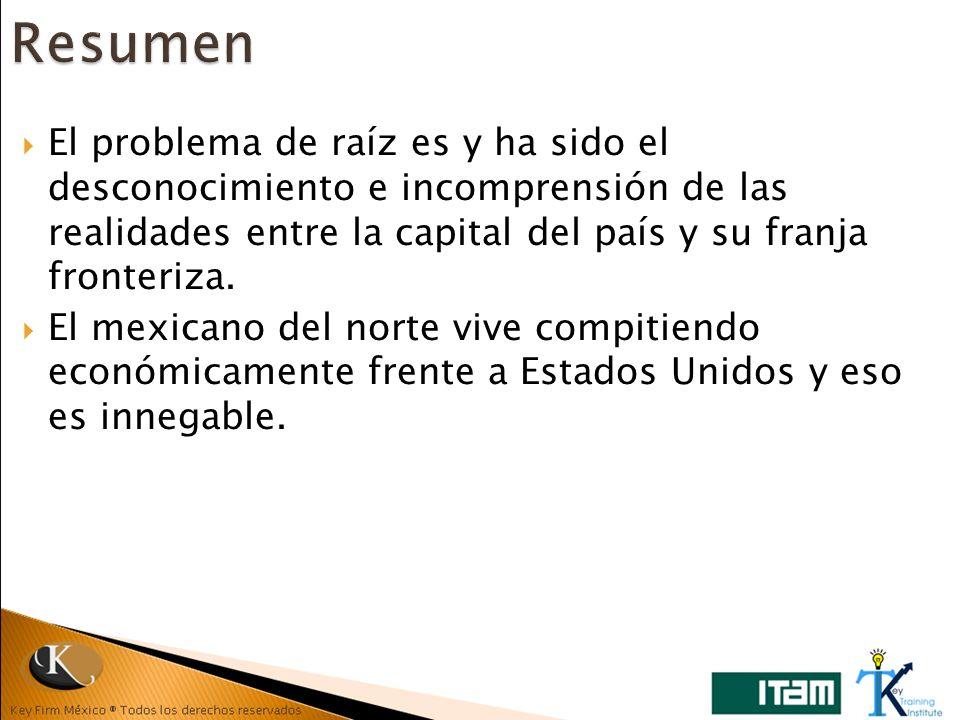 El problema de raíz es y ha sido el desconocimiento e incomprensión de las realidades entre la capital del país y su franja fronteriza. El mexicano de