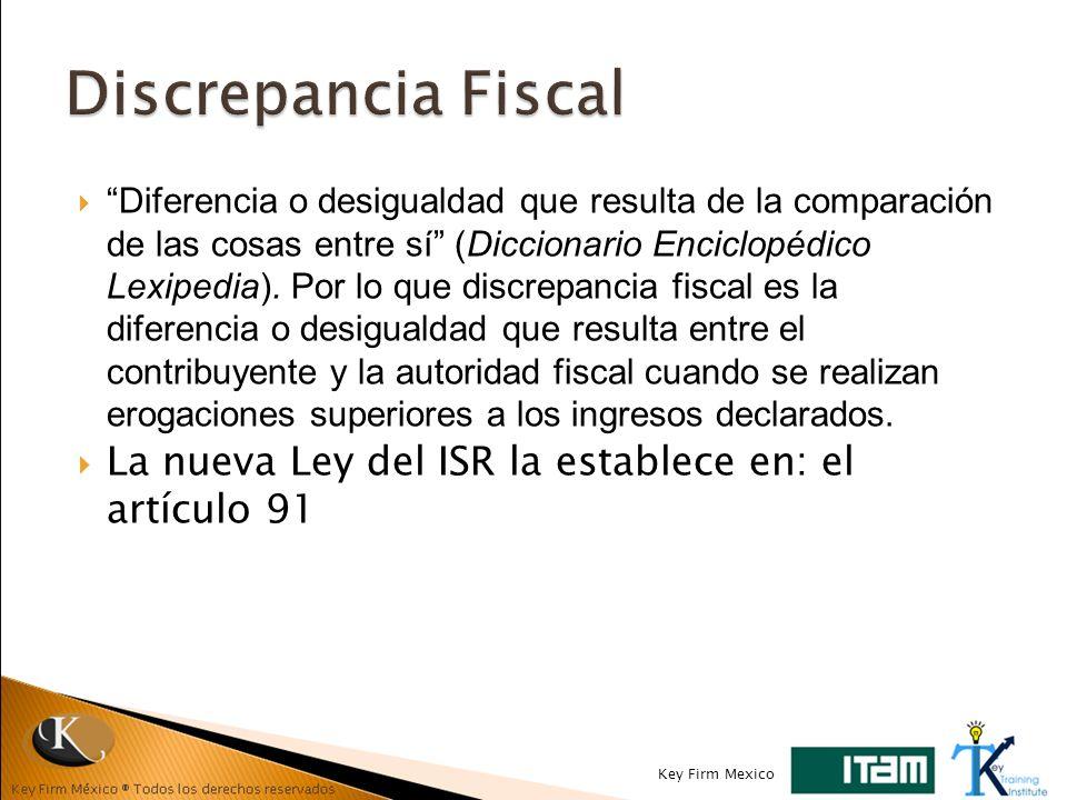 Diferencia o desigualdad que resulta de la comparación de las cosas entre sí (Diccionario Enciclopédico Lexipedia). Por lo que discrepancia fiscal es