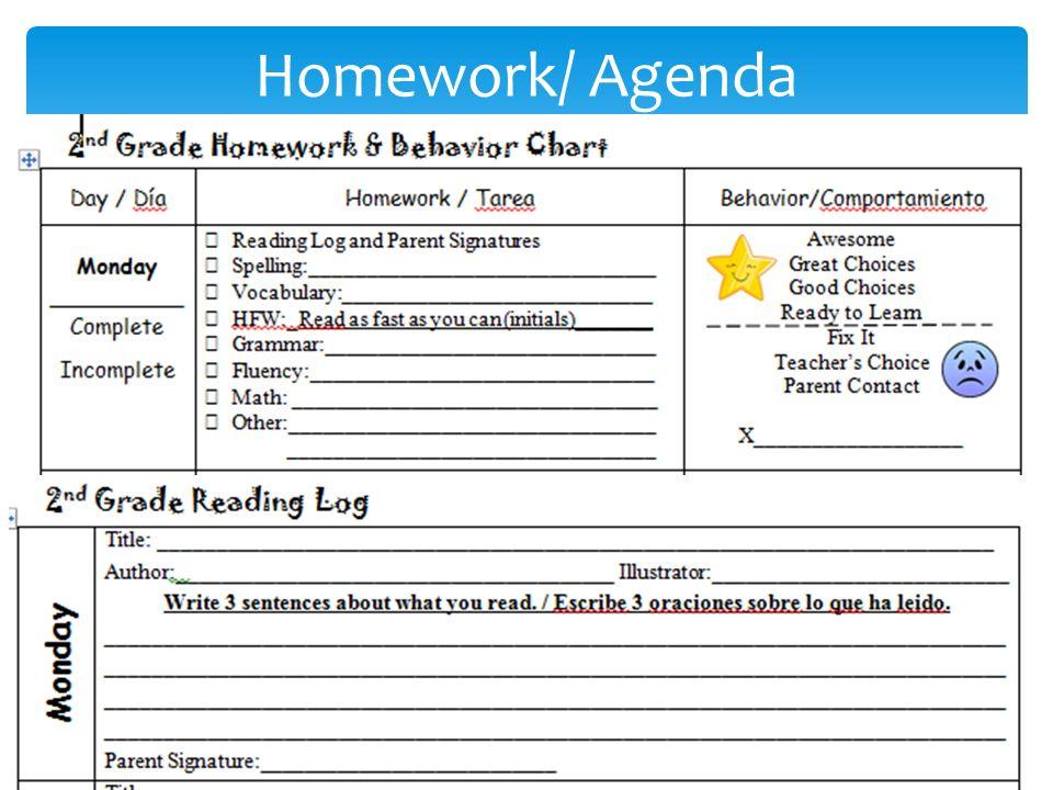 Homework/ Agenda