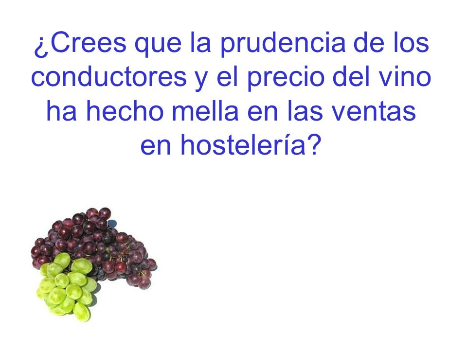 ¿Crees que la prudencia de los conductores y el precio del vino ha hecho mella en las ventas en hostelería