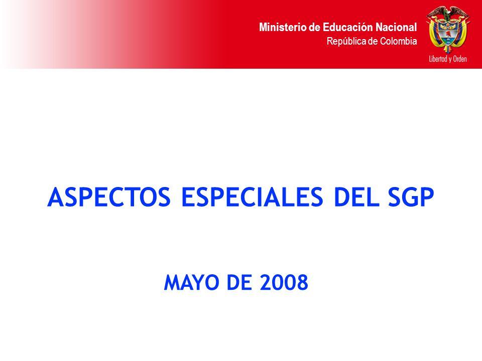 Ministerio de Educación Nacional República de Colombia PENDIENTES