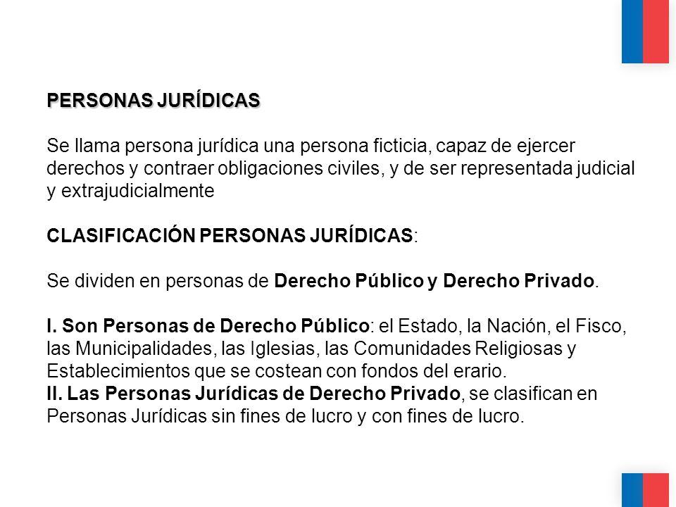 PERSONAS JURÍDICAS PERSONAS JURÍDICAS Se llama persona jurídica una persona ficticia, capaz de ejercer derechos y contraer obligaciones civiles, y de