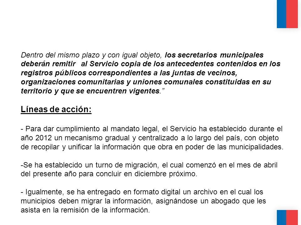 CALIDAD CALIDEZ COLABORACIÓN Dentro del mismo plazo y con igual objeto, los secretarios municipales deberán remitir al Servicio copia de los anteceden