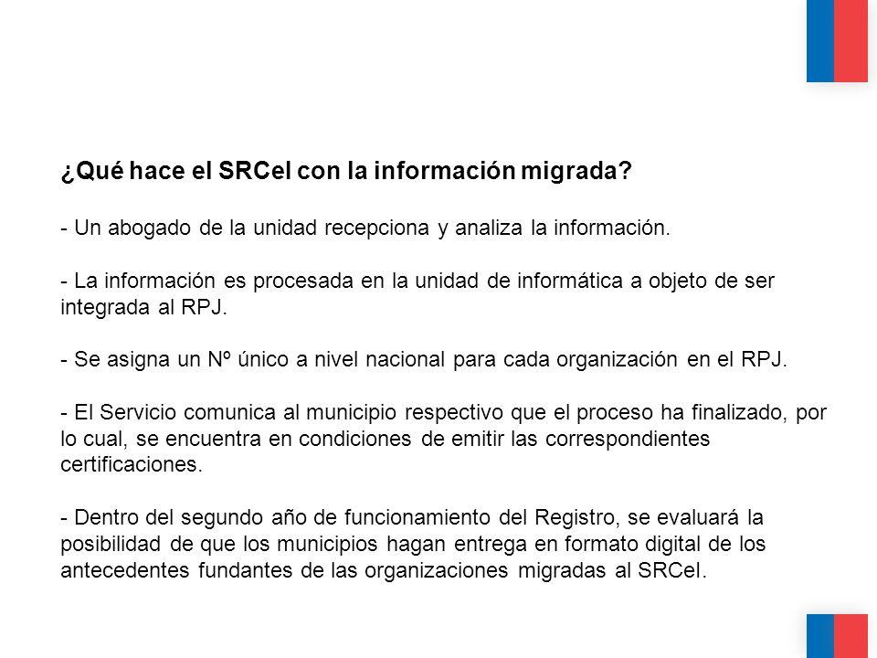 CALIDAD CALIDEZ COLABORACIÓN ¿Qué hace el SRCeI con la información migrada? - Un abogado de la unidad recepciona y analiza la información. - La inform