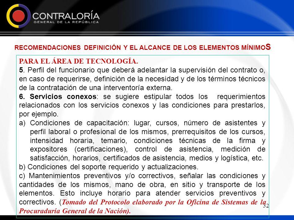 32 PARA EL ÁREA DE TECNOLOGÍA.5.