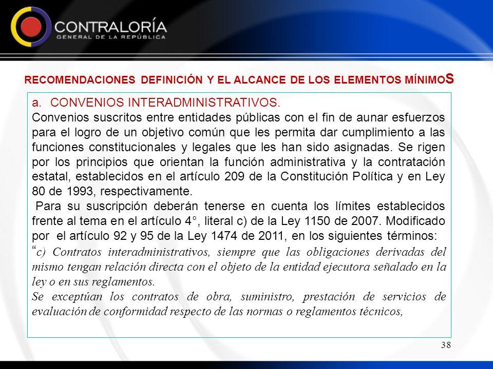 38 a.CONVENIOS INTERADMINISTRATIVOS.