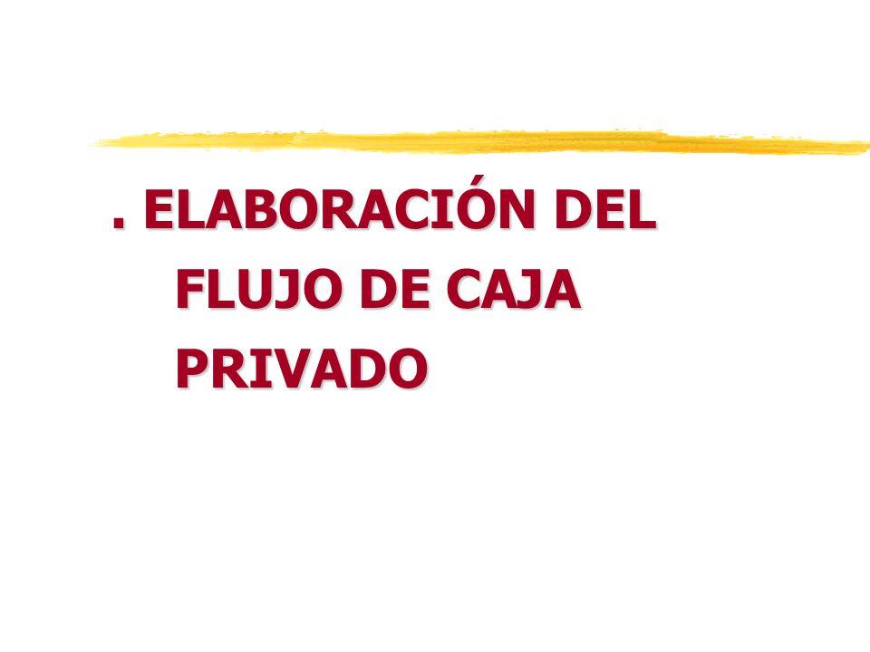 . ELABORACIÓN DEL FLUJO DE CAJA PRIVADO