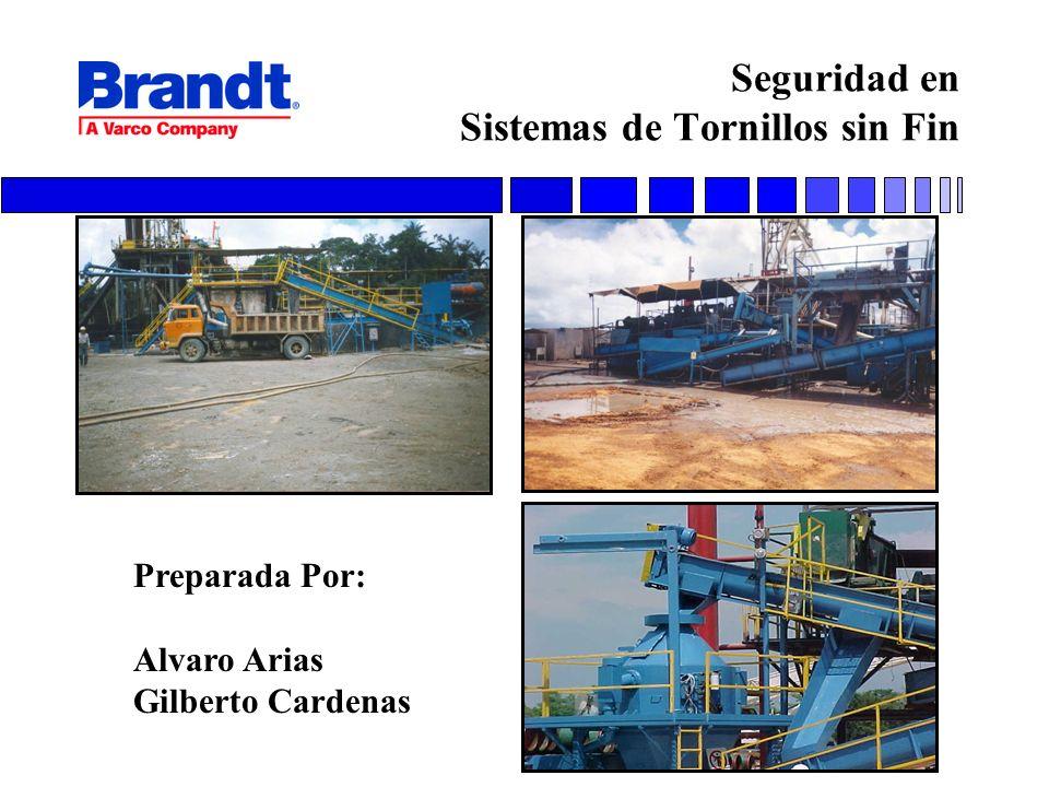 Seguridad en Sistemas de Tornillos sin Fin Preparada Por: Alvaro Arias Gilberto Cardenas