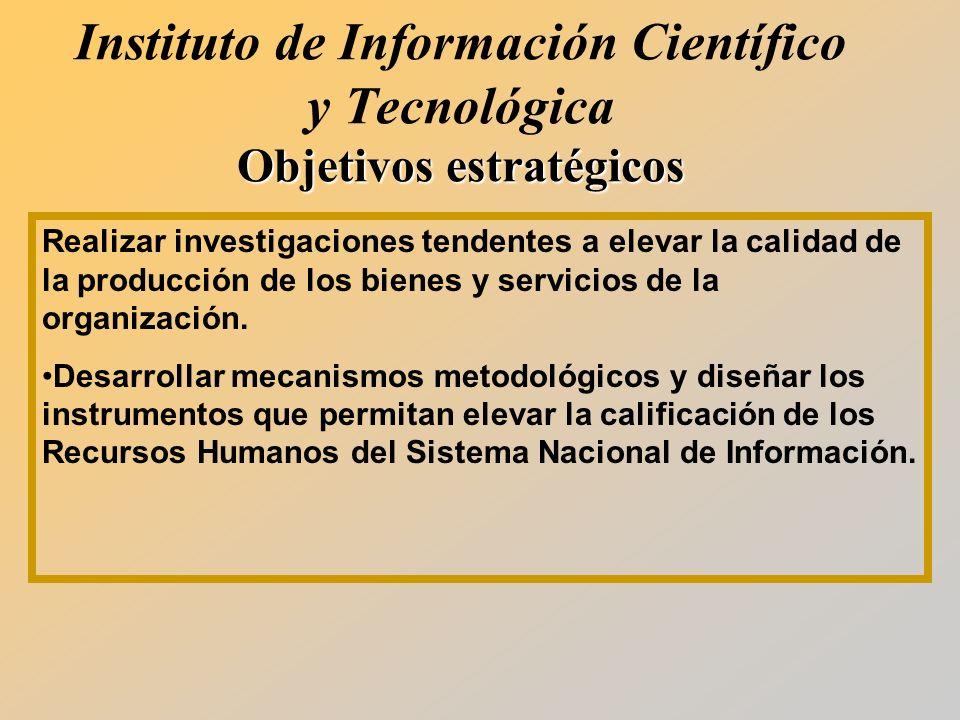 Realizar investigaciones tendentes a elevar la calidad de la producción de los bienes y servicios de la organización.