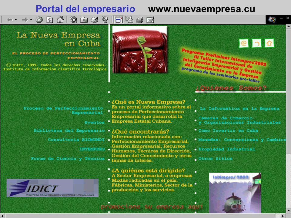 Portal del empresario www.nuevaempresa.cu