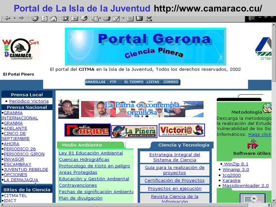 Portal de La Isla de la Juventud http://www.camaraco.cu/