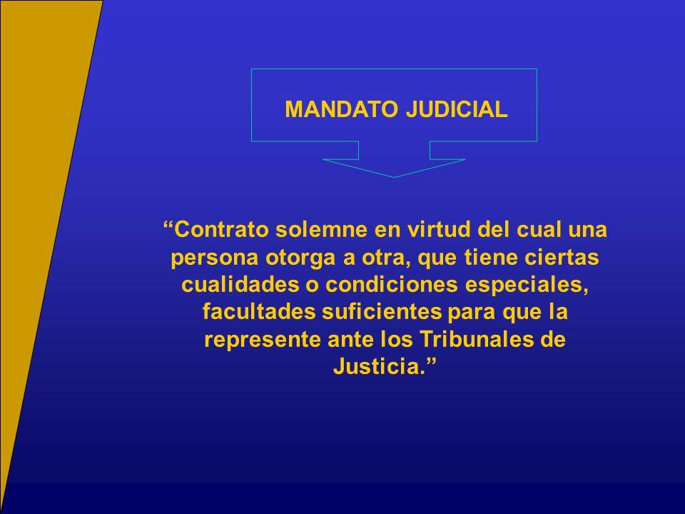 d)Casos en que no se requiere Mandato: Existe un caso general, establecido en el artículo 2° inciso 3° de la Ley N°18.120, conforme al cual la parte puede solicitar autorización al tribunal para comparecer y defenderse personalmente.