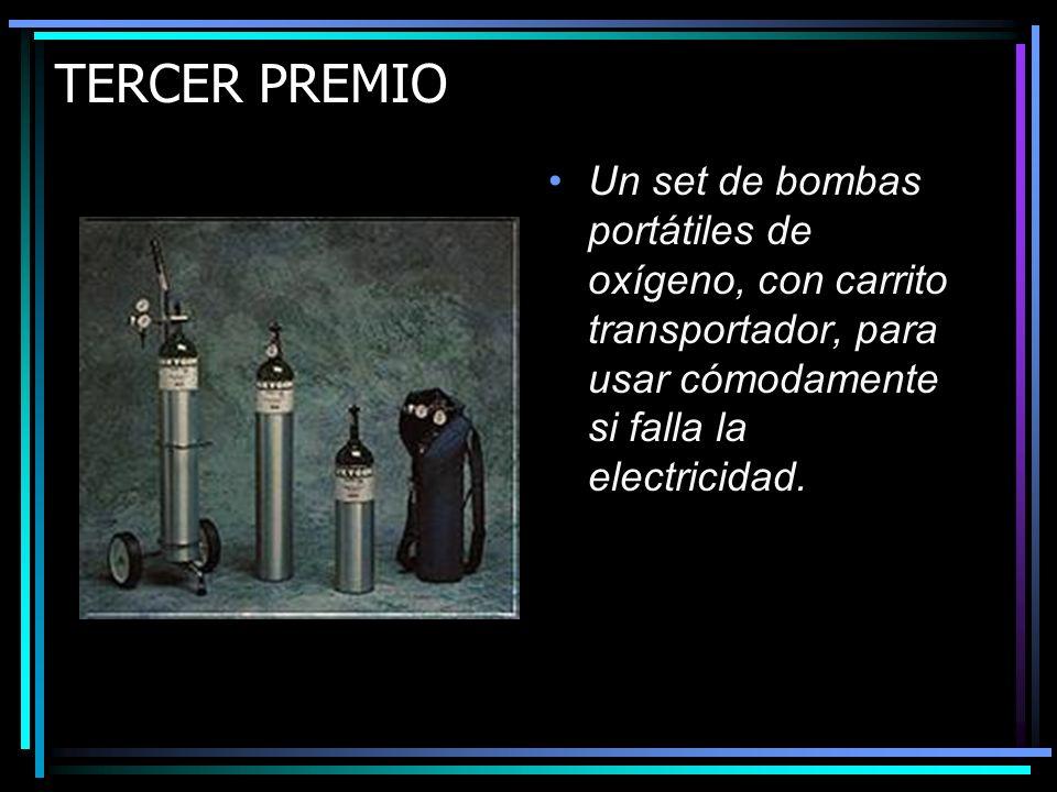 SEGUNDO PREMIO Un equipo de CPAP portátil, para poder respirar durante la noche!